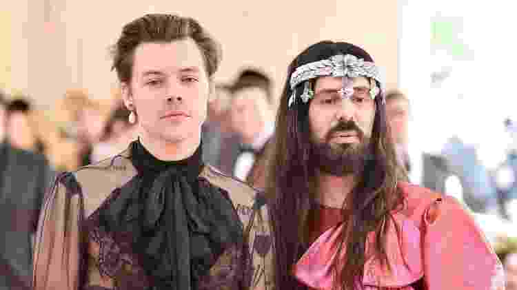 Harry Styles e Alessandro Michele no Met Gala 2019 - Getty Images - Getty Images