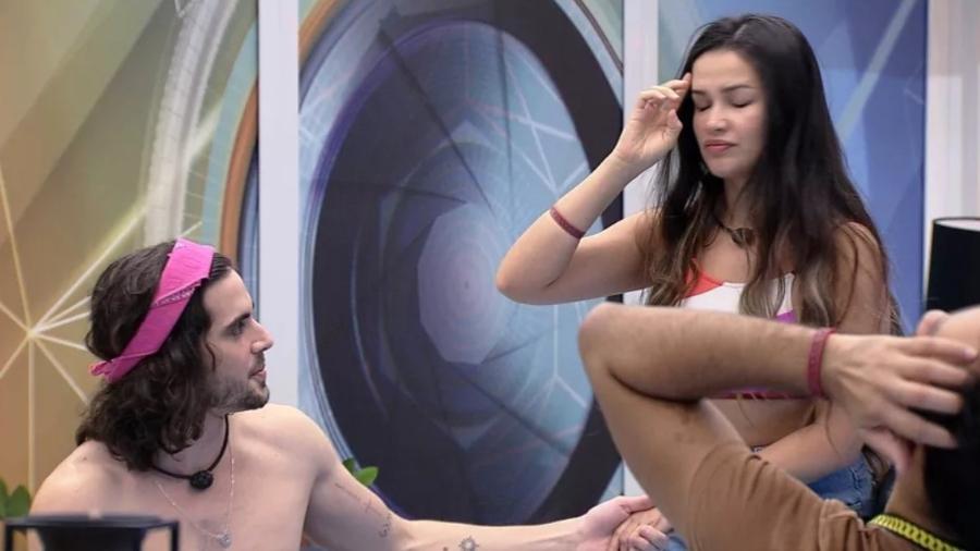 BBB 21: Fiuk e Juliette brincam de simular cena de novela - Reprodução/ Globoplay