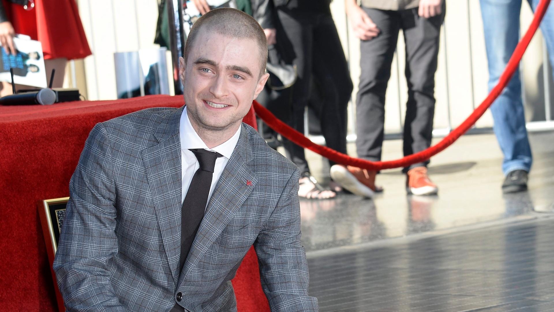 Daniel Radcliffe ganha estrela na Calçada da Fama em Hollywood