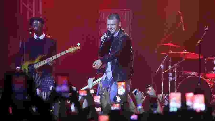 """10.jul.2016 - Integrante dos Backstreet Boys, Nick Carter se apresenta no Via Marquês, em São Paulo. Show faz parte da sua turnê solo """"All American"""" - Ricardo Matsukawa/UOL"""