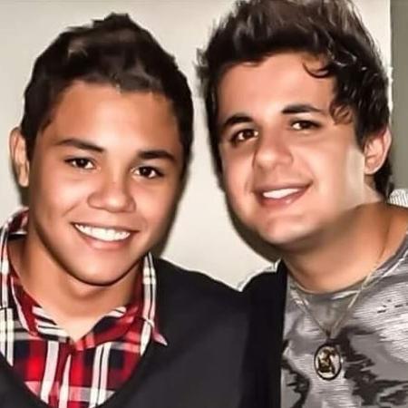 Felipe Araújo e o irmão Cristiano, que morreu em um acidente de carro há 2 anos - Divulgação/Instagram/@felipearaujo