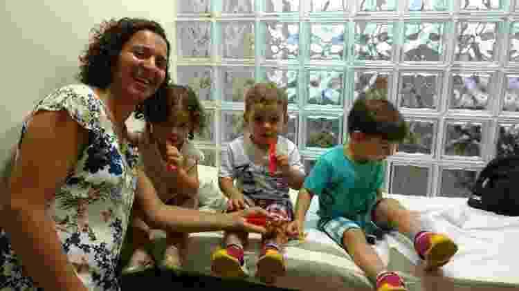 Joédina Soares e seus trigêmeos - Arquivo pessoal - Arquivo pessoal