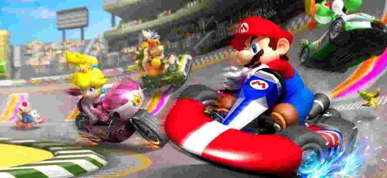 """Versão definitiva do jogo, """"Mario Kart 8 Deluxe"""" traz corridas em cenários incríveis com gráficos em alta resolução - e todo o conteúdo extra lançado para o game no Wii U. - Divulgação"""