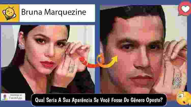 Bruna Marquezine se fosse homem, segundo brincadeira no Facebook - Reprodução - Reprodução