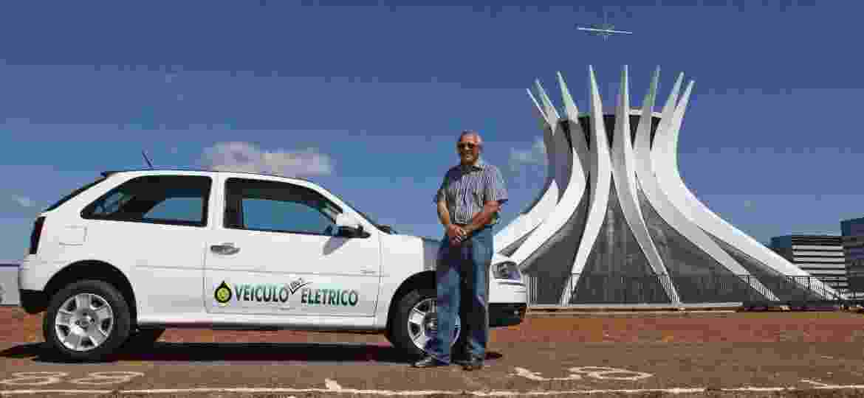 Elifas Gurgel transformou seu Gol 2008 zero-quilômetro em carro elétrico; processo incluindo homologação durou 6 anos - Arquivo pessoal