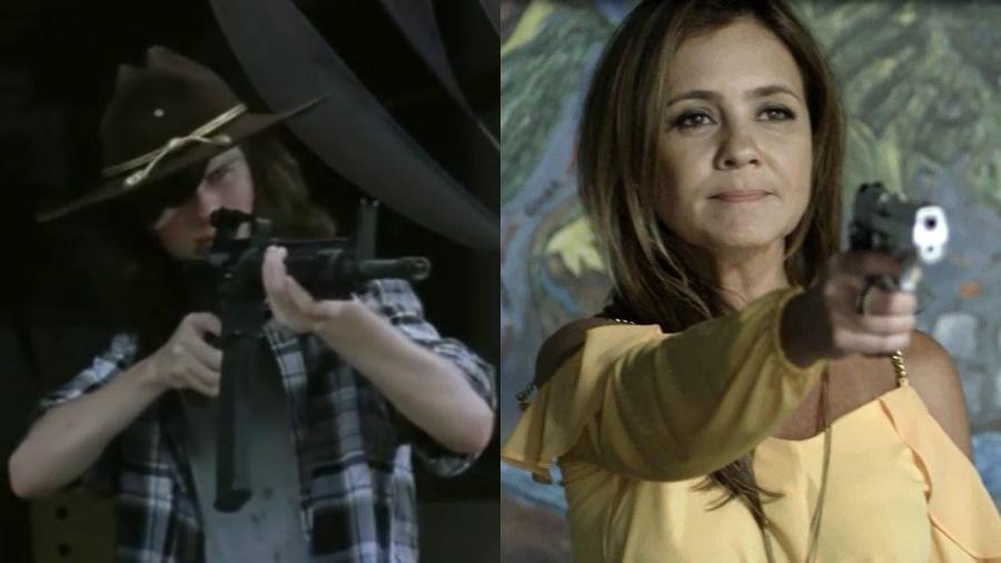 """Uma superprodução como """"The Walking Dead"""" já teve erros quase tão sérios quanto os de """"Segundo Sol"""" - Reprodução/Youtube/Reprodução/Gshow"""
