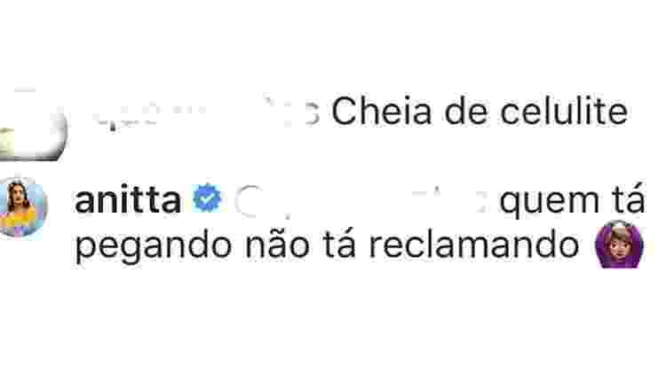 Anitta sobre celulites - Reprodução/Instagram - Reprodução/Instagram