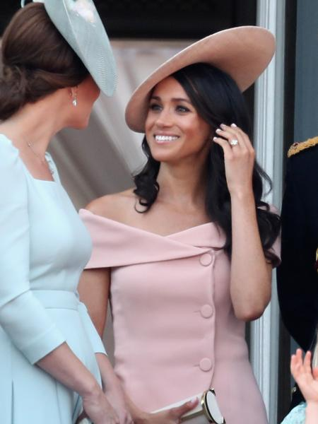 Meghan durante o Trooping The Colour - Getty Images