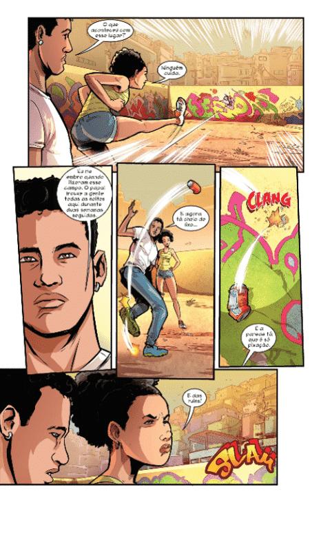 """Ilustração da primeira HQ lançada por Neymar, """"Inked : A Arte ganha Vida #1"""" - Reprodução/""""Inked : A Arte ganha Vida #1"""" - Reprodução/""""Inked : A Arte ganha Vida #1"""""""
