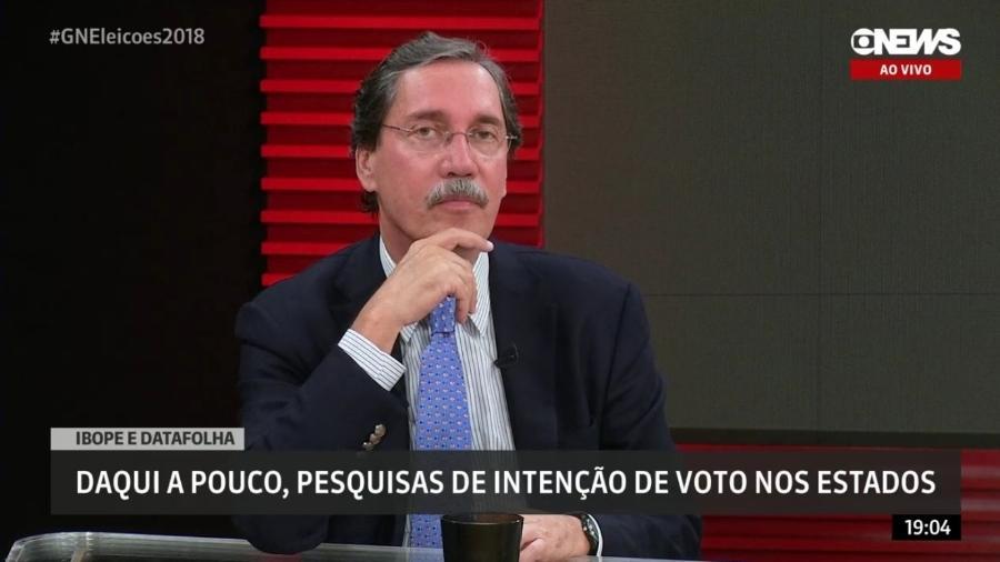 Merval Pereira é zoado ao vivo por colegas na GloboNews - Reprodução/GloboNews
