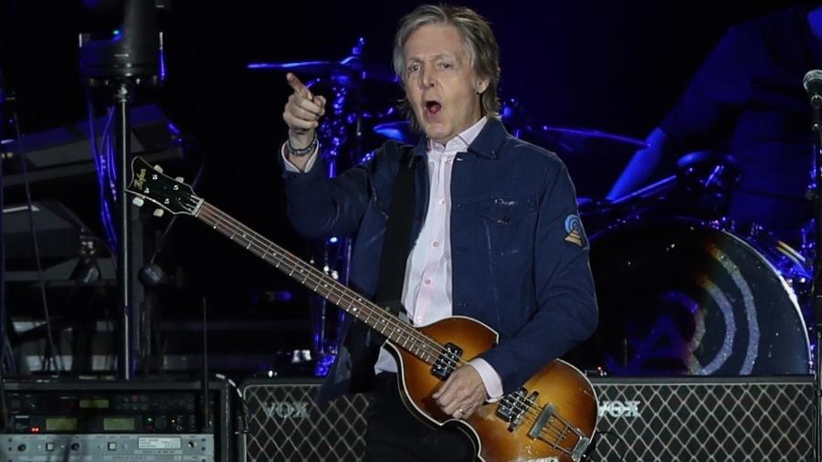 Paul McCartney durante show em Santiago, no Chile - Alberto Valdés/EFE