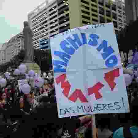 """""""Machismo mata"""": mulheres fazem manifestação contra violência de gênero  - Arquivo/Fernando Frazão/Agência Brasil"""