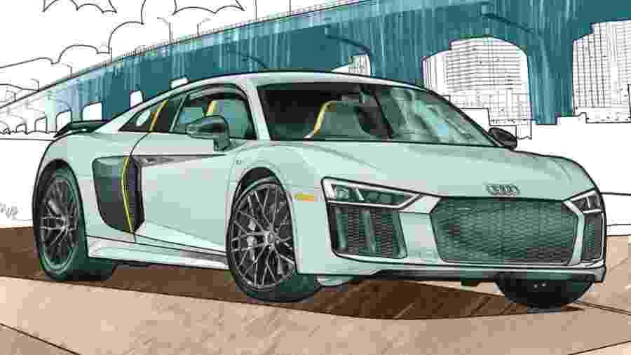 Livro para colorir da Audi - Divulgação