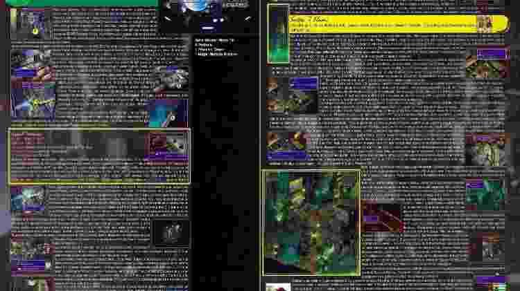 As primeiras páginas da estratégia de FF VII na Gamers Book - Reprodução