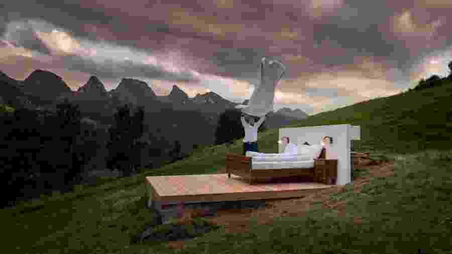 Quarto do Zero Real Estate nos Alpes Suíços - Divulgação