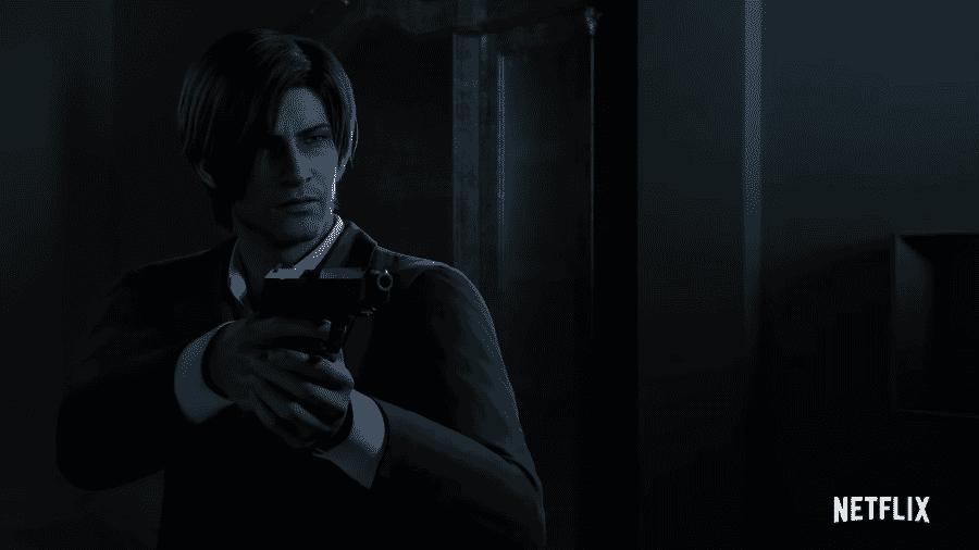 """Leon em cena de """"Resident Evil: No Escuro Absoluto"""" - Reprodução/YouTube"""