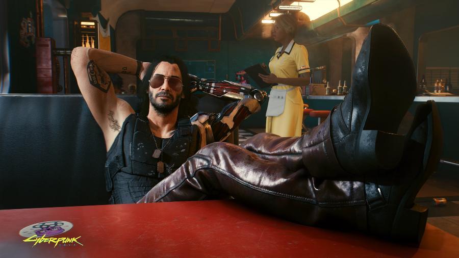 Keanu Reeves empresta sua aparência para o personagem Jonny Silverhand em Cyberpunk 2077 - Divulgação/CD Projekt Red