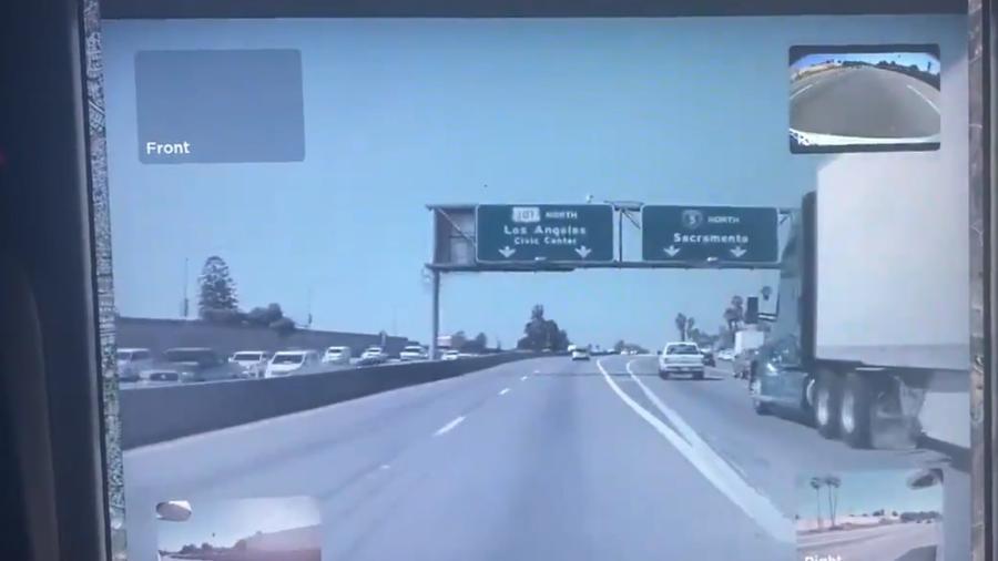 Autopilot evita caminhão nos EUA - Reprodução