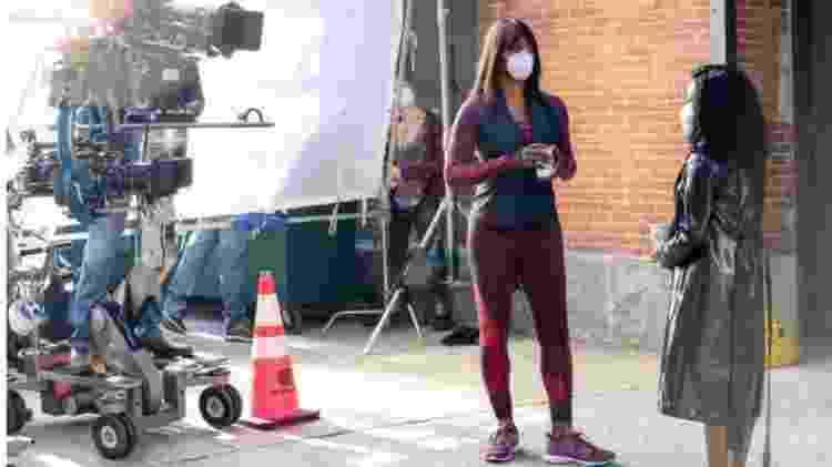 Laverne Cox interpreta a personal trainer de Anna, Kacy Duke, na produção da Netflix, que foi adiada por causa da pandemia - GETTY IMAGES - GETTY IMAGES