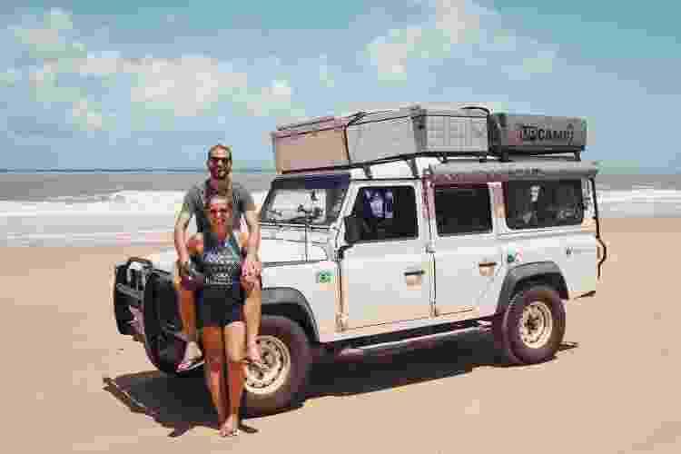 Lucas e Maíra em Baía Formosa, Rio Grande do Norte - Arquivo pessoal - Arquivo pessoal