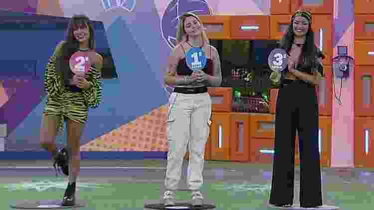 Pódio de Viih Tube em jogo da discórdia - Reprodução/ Globoplay - Reprodução/ Globoplay