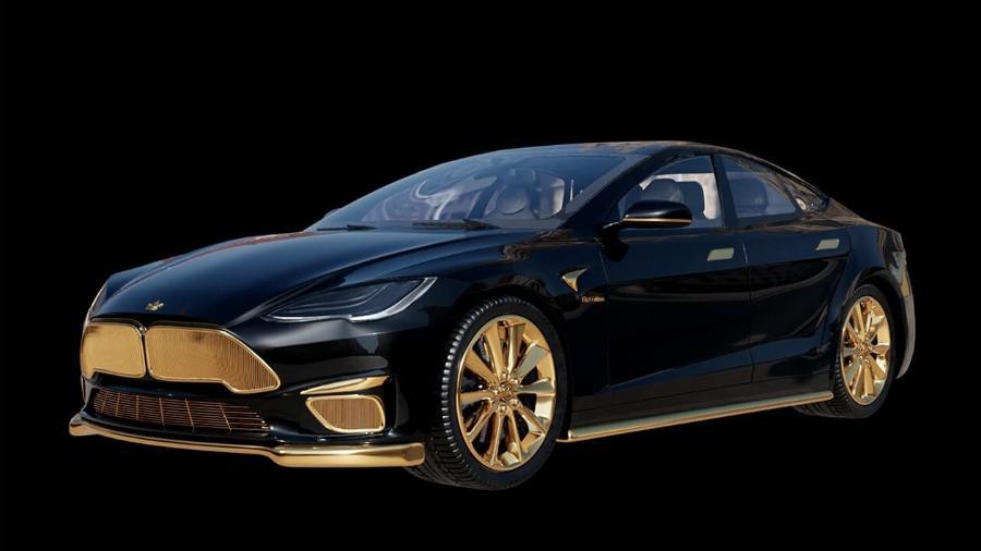 Tesla Model S da Caviar - Divulgação