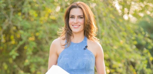 """Ticiana Villas Boas em seu primeiro programa no SBT, """"Bake Off Brasil - Mão na Massa"""""""