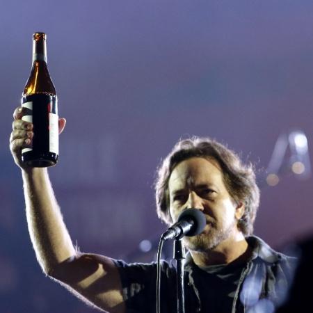 O músico Eddie Vedder, vocalista do Pearl Jam  - Kena Betancur/AFP