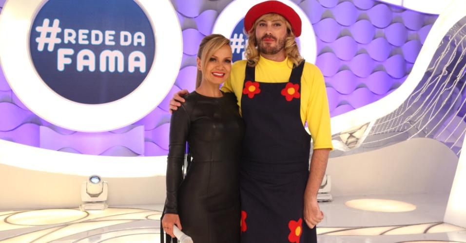 22.nov.2015 - Eliana e Danilo Gentili