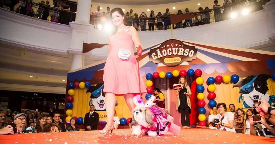 Cães da edição 2015 do CãoCurso, realizado pelo Shopping Pátio Higienópolis, em São Paulo