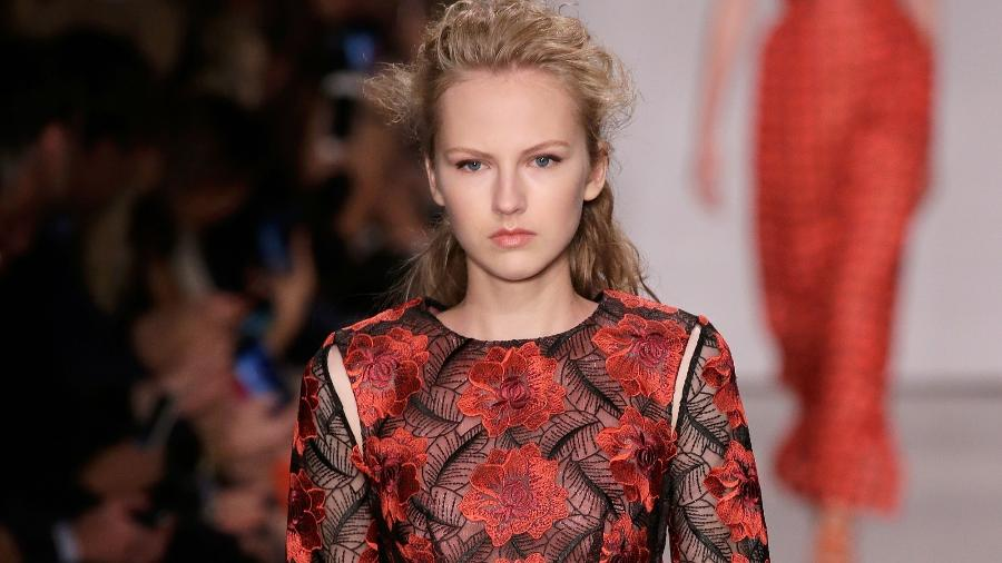 Desfile do estilista Zac Posen na Semana de Moda de NY - Getty Images