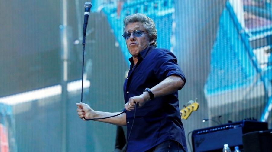 "9.out.2016 - Roger Daltrey do ""The Who"" se apresenta no festival Desert Trip na Califórnia - Mario Anzuoni/Reuters"