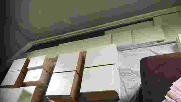 Material usado para a montagem da estante - Reprodução/Facebook - Reprodução/Facebook