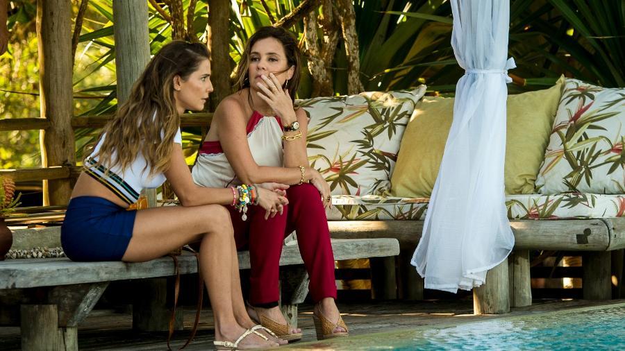 """Laureta (Adriana Esteves) e Karola (Deborah Secco ) vão armar poucas e boas na próxima novela das 21h, """"Segundo Sol"""" - Divulgação/TV Globo"""