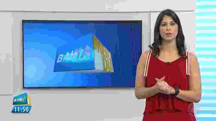 Jessica Senra, âncora da TV Bahia, afiliada da Globo na Bahia - Reprodução/TV Bahia/TV Globo
