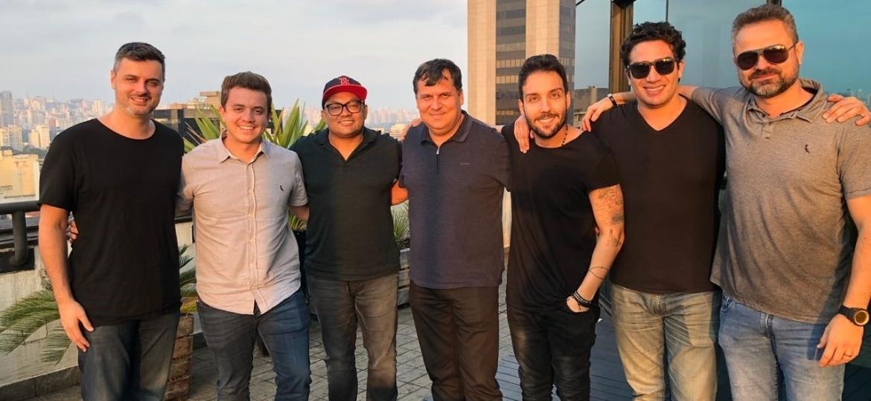 Felippe Senne, Filipe Risse, Toninho, Wander Oliveira, Rafael Brahma, Albie e Rodrigo Byça - Divulgação