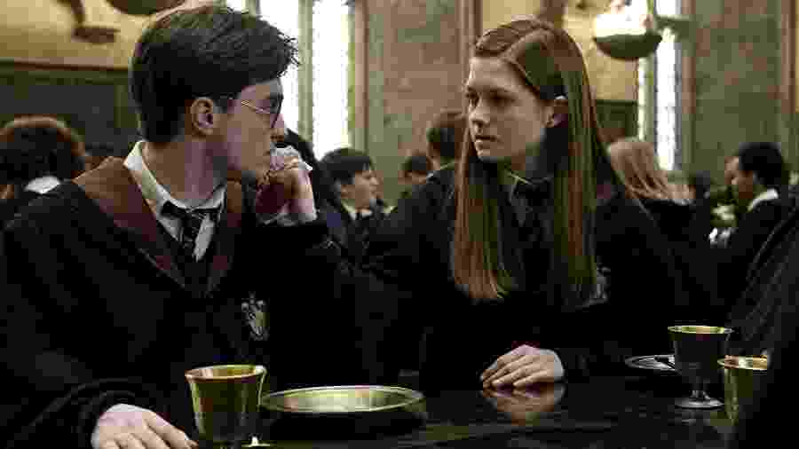 Daniel Radcliffe e Bonnie Wright em Harry Potter e o Enigma do Príncipe (2009) - Divulgação