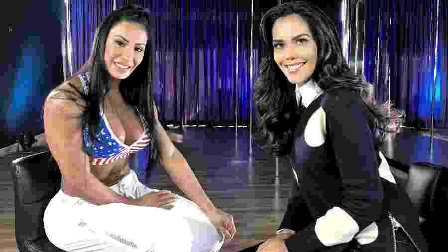 """Gracyanne Barbosa conversa com Daniela Albuquerque no programa """"Sensacional"""" - Divulgação/RedeTV!"""