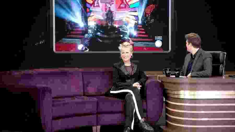 Xuxa no programa do Porchat - Marcus Godoy/Record TV/Divulgação