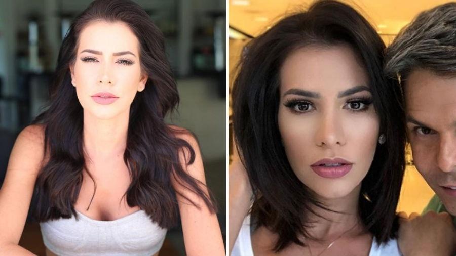 """Adriana Sant""""Anna antes e depois de cortar os cabelos - Reprodução/Instagram"""