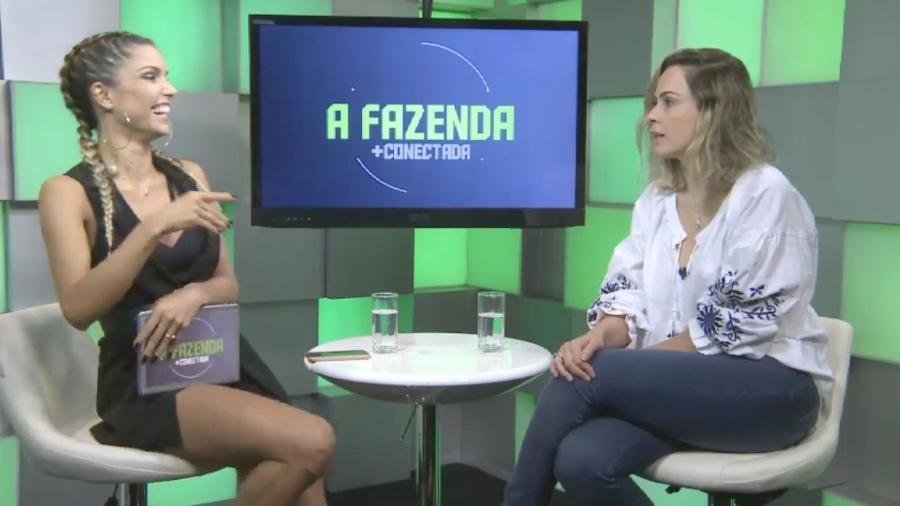 Flávia Viana entrevista Ana Paula Renault em live nas redes sociais  - Reprodução/PlayPlus