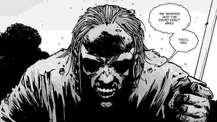 """Os Sussuradores nos quadrinhos de """"The Walking Dead"""" - Divulgação - Divulgação"""