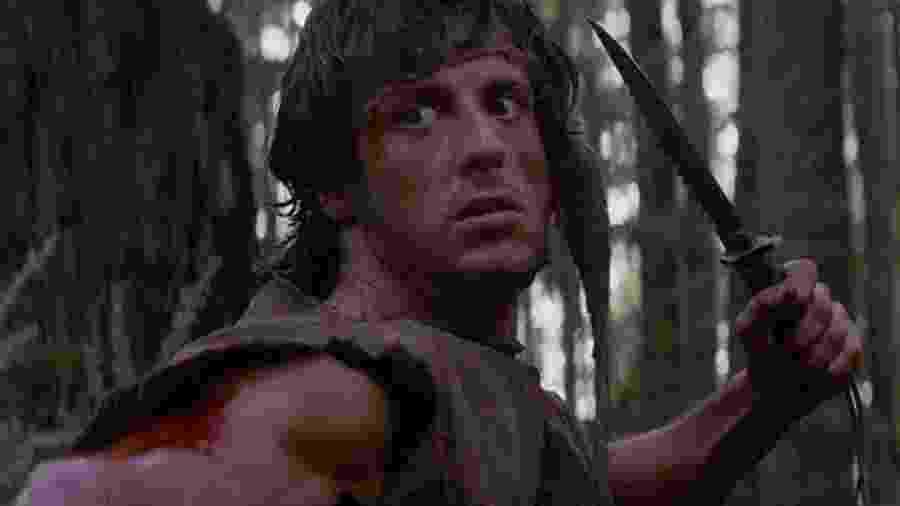 """Sylvester Stallone em """"Rambo: Programado para Matar"""" (1982) - Divulgação"""