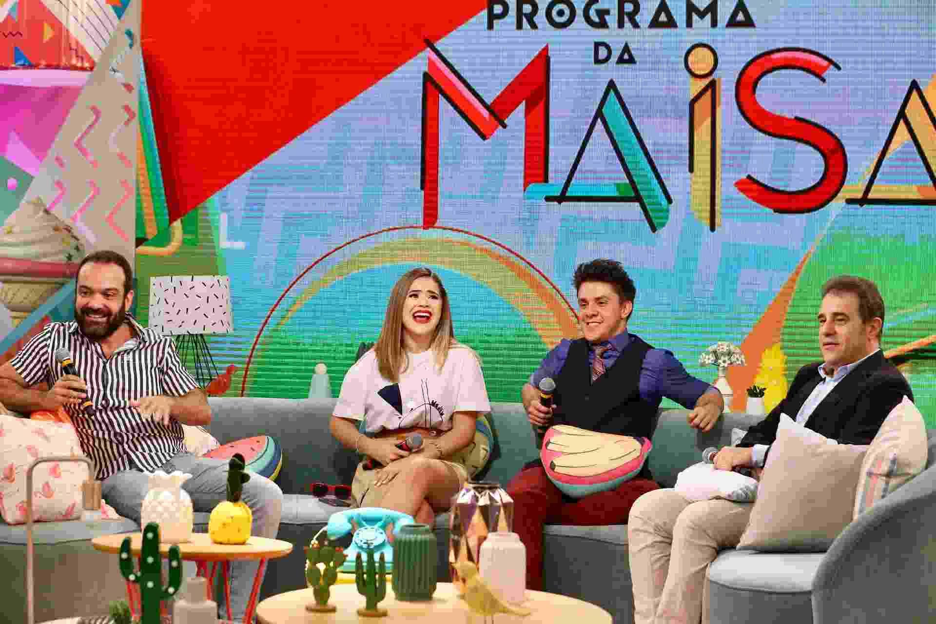 """Maisa Silva fala sobre O 'Programa da Maisa"""" ao lado de Lucas Gentil, diretor da atração, o ex-CQC Oscar Filho e Fernando Pelégio, diretor artístico do SBT - Manuela Scarpa e Marcos Ribas/Brazil News"""