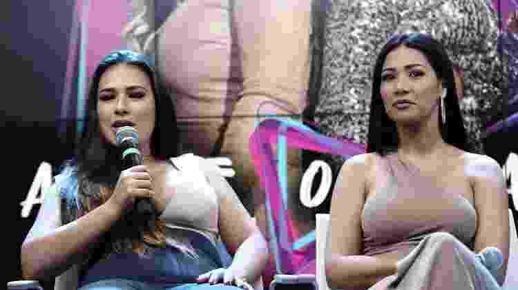 A dupla Simone & Simaria faz coletiva de imprensa em São Paulo - Cláudio Augusto/Brazil News
