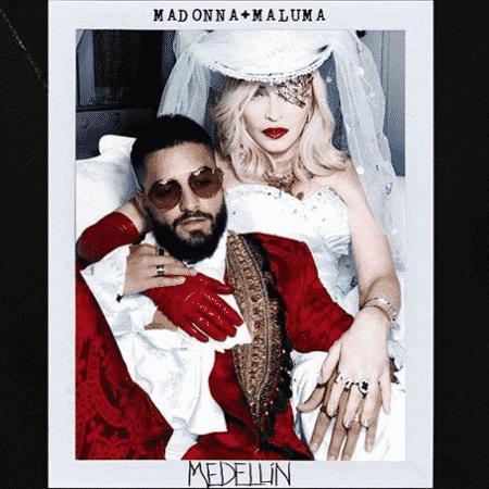 """Capa de """"Medellín"""", single de Madonna e Maluma - Reprodução/Instagram"""