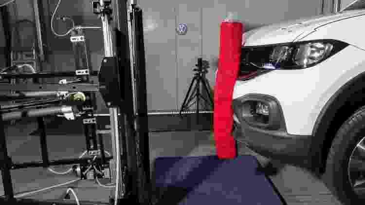 Laboratório também simula efeitos de atropelamento em pedestres - Divulgação