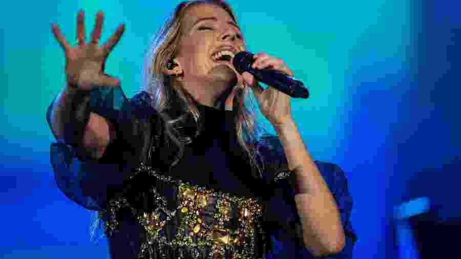 Cantora Ellie Goulding se apresenta durante o primeiro dia do festival Rock in Rio, em 2019 - Eduardo Anizelli/Folhapress