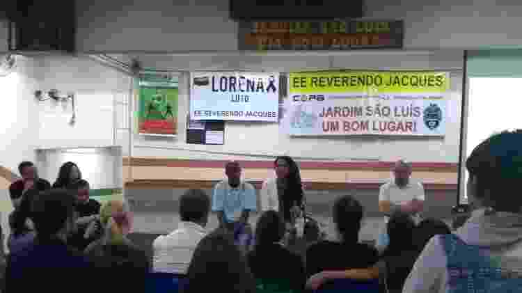 Ato em homenagem a Lorena Vicente na Escola Estadual Reverendo Jacques, com a deputada estadual Érica Malunguinho - Arquivo pessoal - Arquivo pessoal