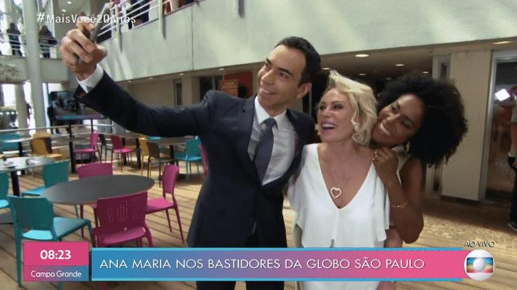 Ana Maria, Tralli e Maju no Mais Você de 20 anos - Reprodução/TV Globo